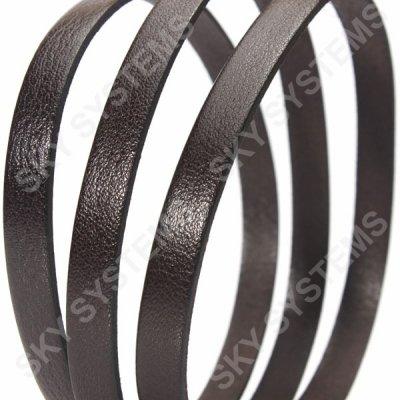 Плоский кожаный шнур 10,0 х 2,0 мм | Цвет: Коричневый