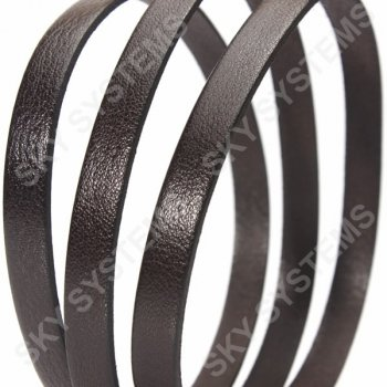 Коричневый плоский кожаный шнур 10,0 х 2,0 мм