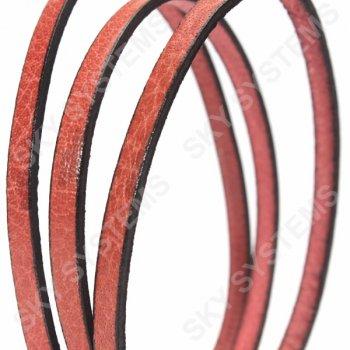 Бежевый плоский кожаный шнур 5,0 х 2,0 мм