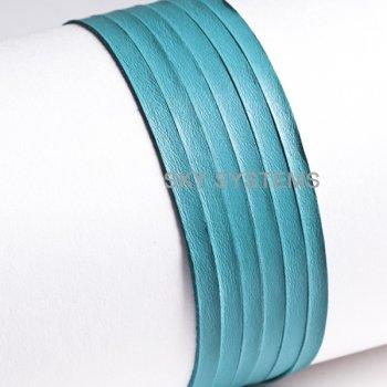 Кожаная лента бирюзовая 4,0 х 0,5 мм