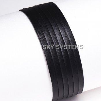 Кожаная лента черная 3,0 х 0,5 мм
