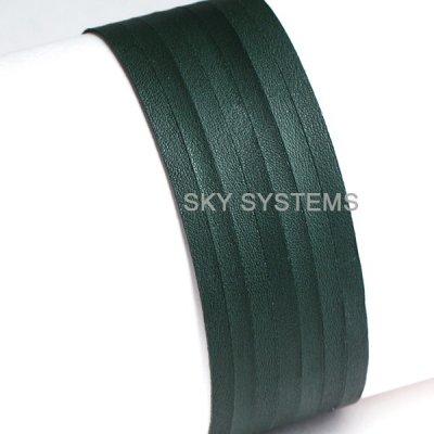 Кожаная лента | 4,0 х 0,7 мм, Цвет: Зеленый