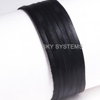 Кожаная лента черная 4,0 х 1,0 мм