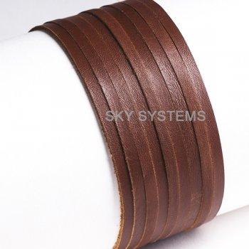 Кожаная лента коричневая 4,0 х 1,0 мм