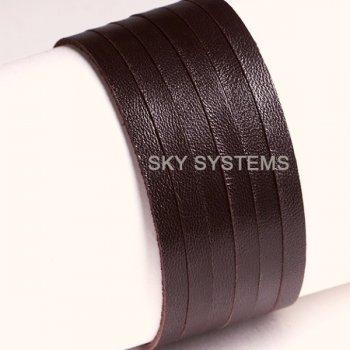 Кожаная лента коричневая 3,0 х 1,2 мм