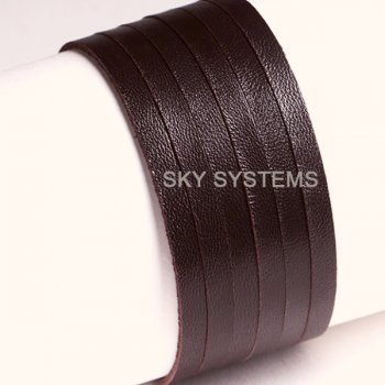 Кожаная лента коричневая 5,0 х 1,2 мм