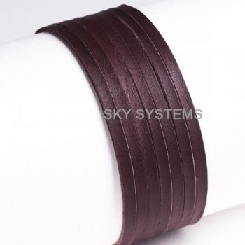 Кожаная лента коричневая 3,0 х 1,5 мм