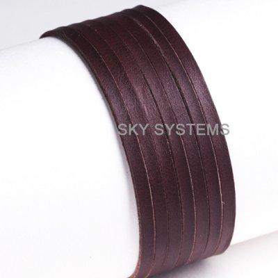 Кожаная лента | 3,0 x 1,5 мм, Цвет: Коричневый