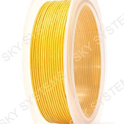 1,0 мм Кожаный шнур | Цвет: Желтый