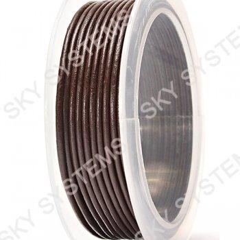 Кожаный шнур коричневый 2,0 мм