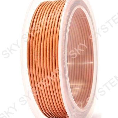 Кожаный гладкий шнур 1.5 мм Австрия Оранжевый 48