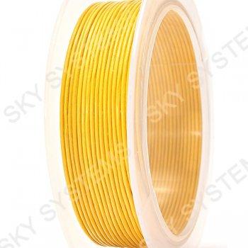 Кожаный шнур желтого 16 цвета 1,0 мм