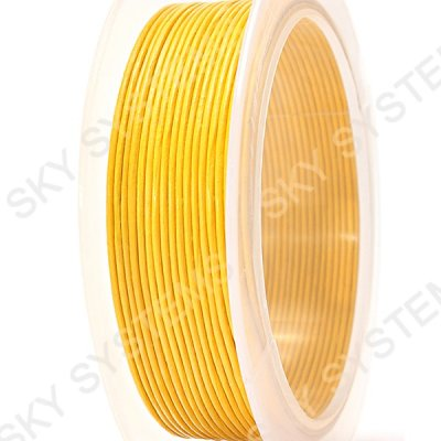 Кожаный гладкий шнур 1.0 мм Австрия Желтый 16