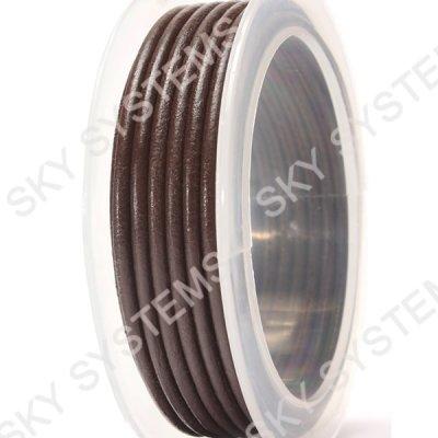 Кожаный гладкий шнур 3.0 мм Австрия Коричневый 02
