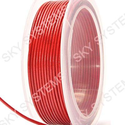 Кожаный гладкий шнур 3.0 мм Австрия Красный 08