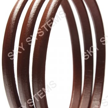 Кожаный шнур Regaliz 10 х 5 мм, Цвет: Коричневый (Испания)