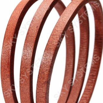 Кожаный шнур Regaliz 8 х 5 мм, Цвет: Красный (Испания)