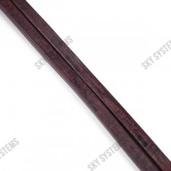 Кожаный шнур Regaliz 8 х 5 мм, Цвет: Темно-коричневый (Испания)