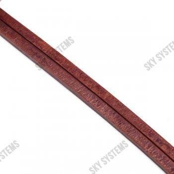 Кожаный шнур Regaliz 8 х 5 мм, Цвет: коричневый (Испания)