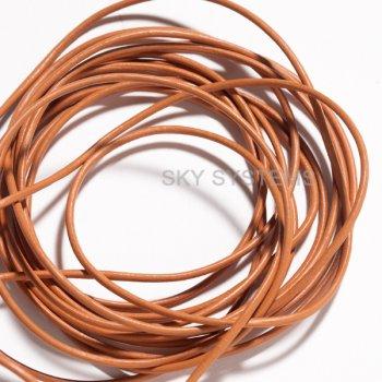 Кожаный шнур оранжевый 1,5 мм