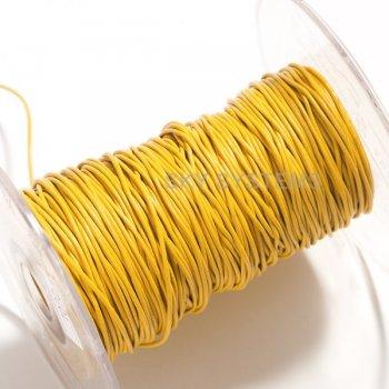 Кожаный шнур желтого цвета 1,0 мм