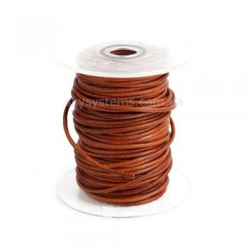Кожаный шнур коричневый антик 2,5 мм
