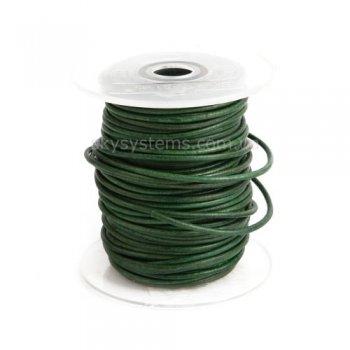 Кожаный шнур зеленый антик 2,5 мм