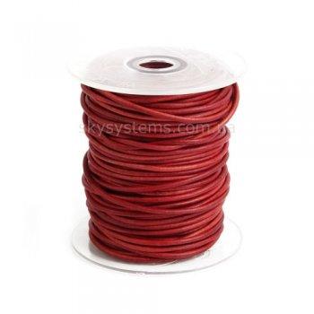 Кожаный шнур красный антик 2,5 мм
