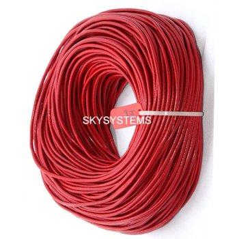 Кожаный шнур красного цвета 1,0 мм