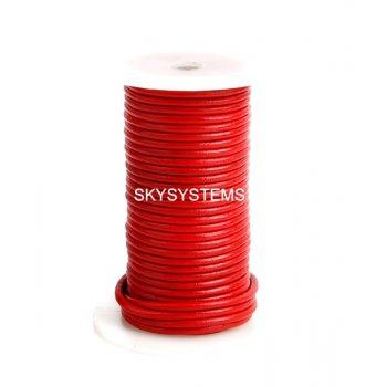 Кожаный шнур красный 3,0 мм