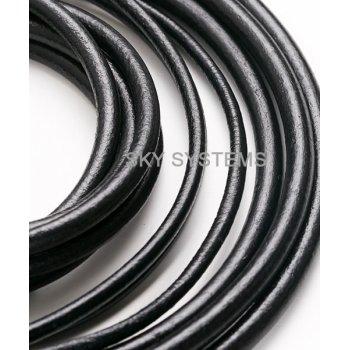 Кожаный шнур черный (Испания) 4,0 мм