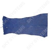 Обрезки натуральной кожи питона | Цвет: Синий