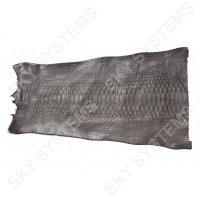 Обрезки натуральной кожи питона | Цвет: Темно-серый