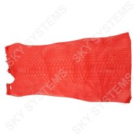 Обрезки натуральной кожи питона | Цвет: Коралловый