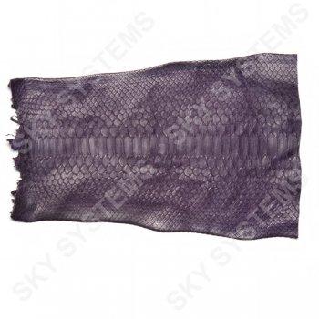 Обрезки натуральной кожи питона | Цвет: Фиолетовый