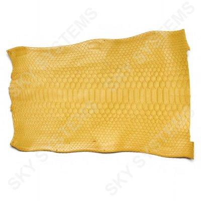 Обрезки натуральной кожи питона | Цвет: Желтый