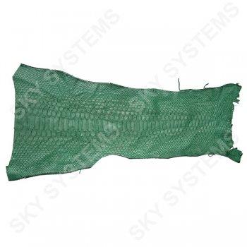 Обрезки натуральной кожи питона | Цвет: Зеленый