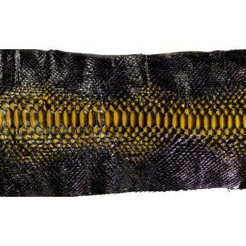 Натуральная кожа питона, спинной разрез, цвет: желтый, черный.