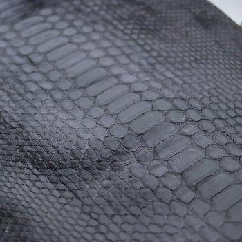 Натуральная кожа питона, спинной разрез, цвет: серый