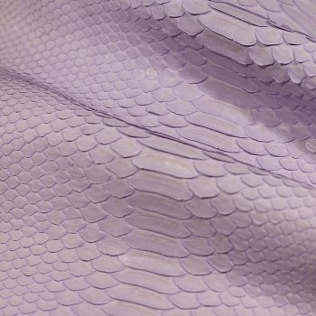 Натуральная кожа питона, спинной разрез, цвет: лаванда