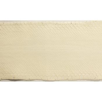 Натуральная кожа питона, брюшной разрез, цвет: светло-бежевый