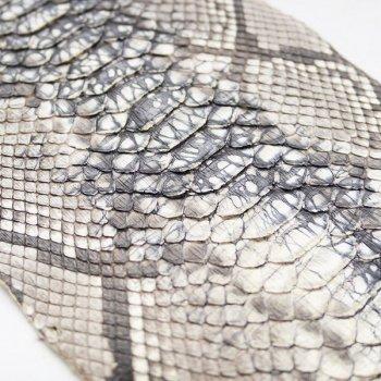Натуральная кожа питона, спинной разрез, цвет: микс