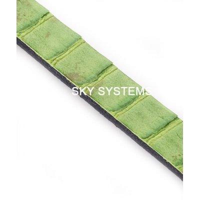 Полоса из кожи змеи 6 х 2,5 мм | Зеленая
