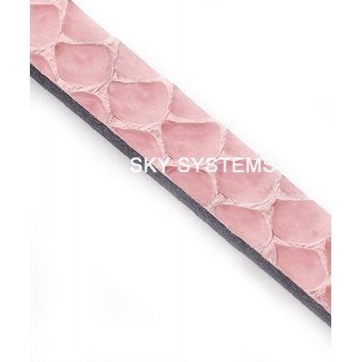 Полоса из кожи змеи 6 х 2,5 мм | Розовая