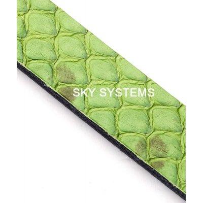 Полоса из кожи змеи 8 х 2,5 мм | Зеленая