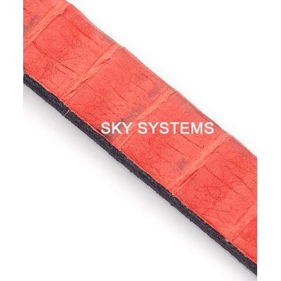 Полоса из кожи змеи 8 х 2,5 мм | Красная