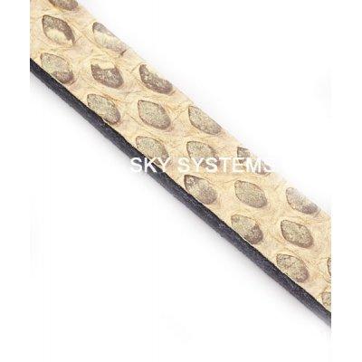 Полоса из кожи змеи 6 х 2,5 мм | Бежевая