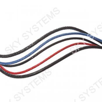 4.0 мм Шнур из кожи ската 43-45 см | Цвет: Синий