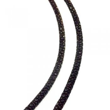 3.0 мм Шнур из кожи ската 43-45 см | Цвет: Черный
