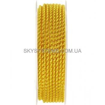 Шелковый шнур Милан 2016 | 3.0 мм, Цвет: Желтый